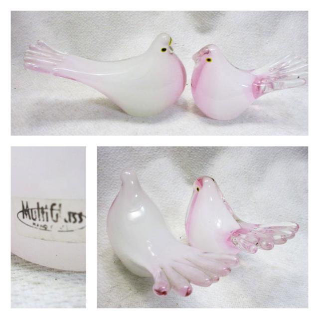 マルティグラス(Multi Glass)オシドリ ペア/福岡県指定特産工芸品