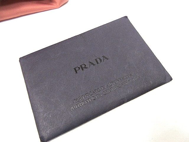 PRADA プラダ DGE TESS.+SAFFIANO SP ROSA 2211B BR2252 中古