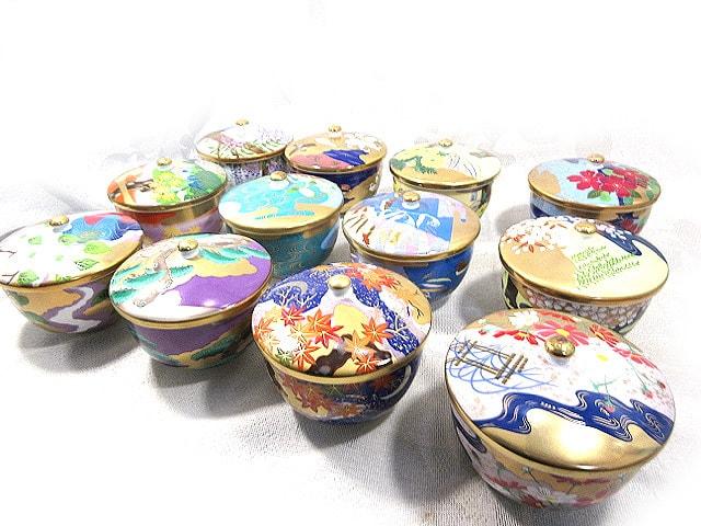羽柴正和 宮中の花の歳時記 湯飲茶碗 12客